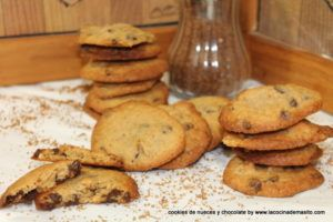 cookies de nueces y chocolate