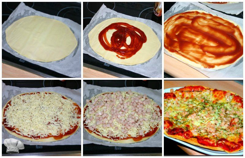 pizza facil de pavo