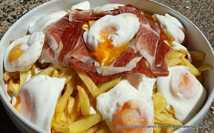 Huevos rotos con jamon ¡ESPECTACULARES!